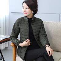 中老年女装夹克小棉袄50中年短款棉衣妈妈冬装羽绒外套30岁40