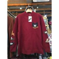 C3半高领套头毛衣女秋冬卡通韩版长袖加厚百搭打底针织衫0.55