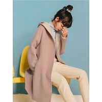 韩版双面呢赫本风毛呢大衣秋冬女2019新款甜美气质刺绣外套小个子