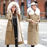 【极速发货 超低价格】冬装2020年新款棉袄女中长款派克服棉衣韩版宽松收腰加绒棉服外套