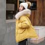 【极速发货  超低价格】2020新款大毛领加厚学生棉服短款连帽棉衣女面包服冬棉袄外套
