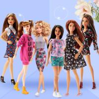 【支持礼品卡】芭比娃娃女孩公主衣服搭配儿童套装玩具礼盒换装时尚达人v8i