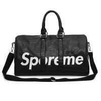 健身运动包PU皮防水时尚男女手提包短途旅行包单肩包斜跨行李包潮 大
