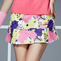 羽毛球服裤裙女短裤裙网球裙裤防走光运动裤裙女修身显瘦 C6120花色裤裙