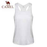 camel骆驼运动背心女宽松罩衫跑步瑜伽速干透气健身上衣