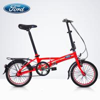 2018031707533240316寸铝合金便携折叠自行车 自行车男女式 学生单车
