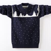 儿童毛衣绒厚款秋冬中大童圆领线衣针织衫套头男孩