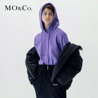 MOCO连帽白鸭绒超短羽绒服加厚外套女冬季MA174EIN109 摩安珂