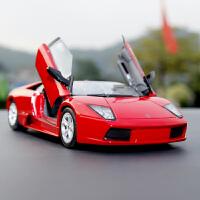 比美高兰博基尼车模摆件礼物1:18仿真合金原厂雷文顿跑车汽车模型