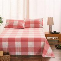 水洗棉色床单 棉简约素色棉单件床单双人1.8m 1.5米单品