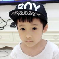 BOY黑色百搭儿童鸭舌帽 韩版潮春夏男童棒球帽 3-10岁男童平沿帽
