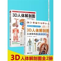 【正版】3D人体解剖图全彩图谱人体解剖学彩色学图谱医学人体肌肉解剖运动解剖学断层局部解剖学图谱解剖教材卫生解剖生理学基