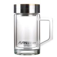 富光 双层玻璃杯办公水杯 X104-320B 320ml