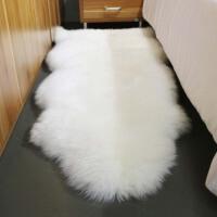 澳洲纯羊毛地毯客厅地毯卧室床边毯整张羊皮沙发垫飘窗垫定制白色