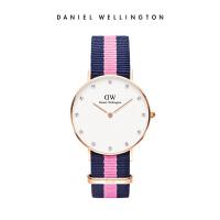 DanielWellington丹尼尔惠灵顿 DW手表女 34mm正品织纹石英女表