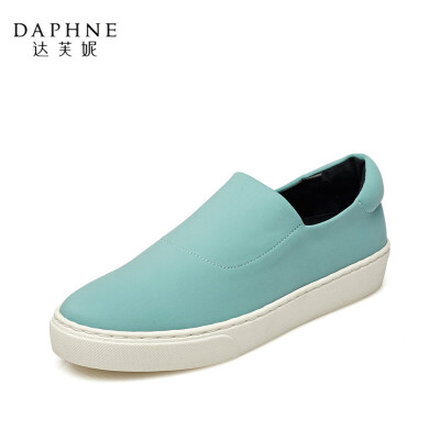 Daphne/达芙妮正品女鞋 秋季时尚舒适简约平底女鞋乐福鞋单鞋