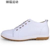 内增高鞋男板鞋真皮鞋子男休闲鞋
