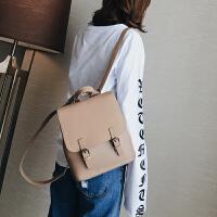 双肩包女韩版潮小清新学生书包pu皮简约时尚校园百搭背包女士包包