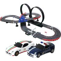 男孩玩具轨道赛车电动轨道车儿童遥控汽车轨道玩具车套装