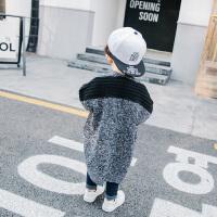 童装男童针织衫2018春季新款中小童宝宝春秋毛衣纯色开衫外套童装