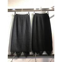 S3开叉一步裙秋冬高腰裙子 蕾丝两面穿中长款针织包臀裙半身裙0.4