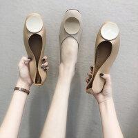 户外时尚浅口单鞋舒适休闲平底鞋软底百搭女鞋气质晚晚鞋