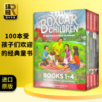 英文原版 棚车少年1-4册盒装 The Boxcar Children Books 进口英语章节桥梁书 美国经典儿童读物