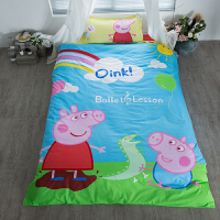 1米学生宿舍六件套床上被褥套装6件1.2m上下铺单人棉三件全套装 西瓜红 小猪佩奇(普通款)