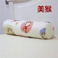 棉圆柱抱枕长条枕沙发抱枕靠垫可爱枕头枕可拆洗 乳白色 美猴