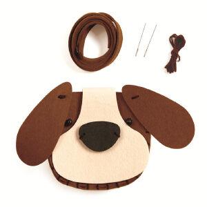 Hape刺绣毛毡挎包小狗3-6岁手工DIY创意益智游戏玩具绘画手工E5127