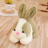 仿真小兔子毛绒玩具小白兔兔公仔抓机娃娃玩偶萌生日礼物送女生 22厘米