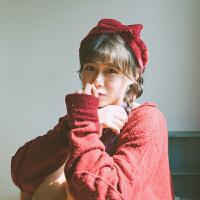 洗脸束发带女韩版网红化妆敷面膜发箍甜美可爱头饰简约发捆箍发饰
