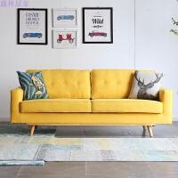 布艺沙发组合简约可拆洗现代客厅日式双人三人位大小户型沙发
