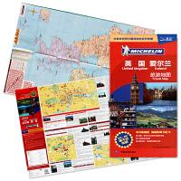 2019新版 米其林 英国地图 英国爱尔兰旅游地图 英国旅游交通地图 中英文对照 公路网交通旅游 景点街区 防水耐折
