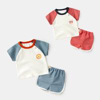 婴儿短袖套装夏季运动装儿童上衣短裤两件套宝宝夏装