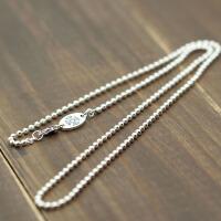银饰品圆珠项链十字架男女佛加长款裸链毛衣链短锁骨链