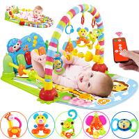 宝宝多功能健身架器脚踏钢琴新生儿音乐游戏毯玩具3-6-12个月