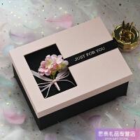 情人节礼品盒大号加高粉色女友礼物包装盒伴手礼盒结婚伴娘礼物盒