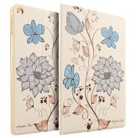 2017新款iPad保护套A1822苹果ipad air2保护壳9.7寸 air智能休眠皮套ipad6/5全包外壳女卡
