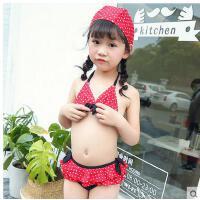 新款儿童游泳衣女童女孩泳装时尚女泳衣比基尼宝宝分体裙式小中大童泳裤支持礼品卡支付