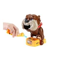 小心恶犬玩具创意整蛊咬手指恶犬狗偷骨头咬人玩具整人