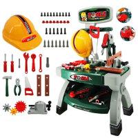 儿童过家家工具箱玩具套装螺丝刀维修理工具台3456岁男孩宝宝