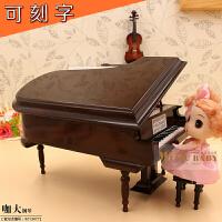 ????啡色三角钢琴模型音乐盒儿童小礼品圣诞节礼物创意送女生 平安夜