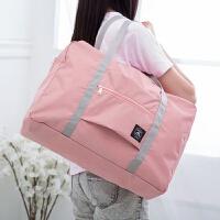 {夏季贱卖}待产包袋子大容量收纳袋子入院孕妇便携手提装衣服的包旅行收纳包 粉红色