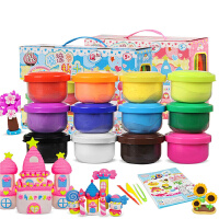 智高KK超轻粘土12色套装ZG-326 儿童无毒杯装彩泥橡皮泥益智玩具 亲子玩具套装太空泥 魔法粘土