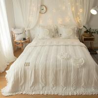 家纺韩版冬季珊瑚绒四件套夹棉加厚法兰绒法莱绒被套床裙1.8m米床上