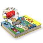 Wind-up bus扭动发条玩具书 巴士 英文原版儿童亲子互动读物