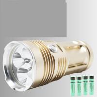 超亮强光手电筒 T6氙气灯 流明 led灯珠