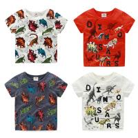 宝宝儿童恐龙短袖T恤男 夏装新款韩版男童童装打底衫