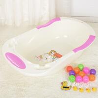 婴儿浴盆宝宝洗澡盆可坐躺通用新生儿用品小孩儿童沐浴桶大号